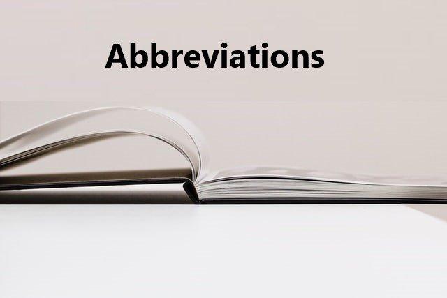 abbreviation in English